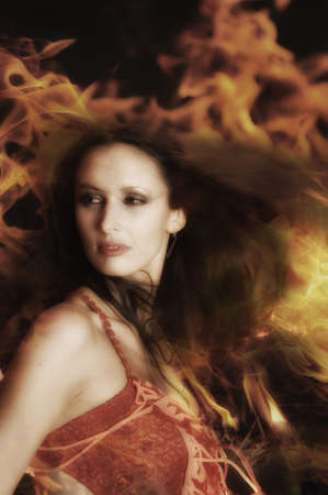 fiery girl Stock Photo - 12233500