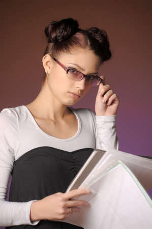 Young secretary or businesswoman  Stock Photo - 12374803
