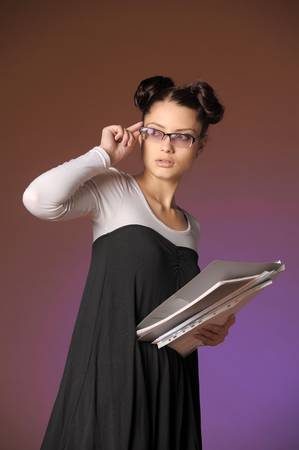 Young secretary or businesswoman Stock Photo - 12374760