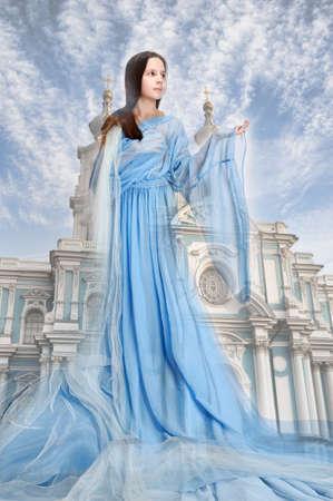 penseur: fille religieuse