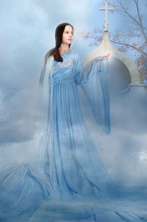 religious girl photo