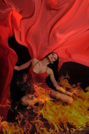 Hot woman dancer Stock Photo - 12205136
