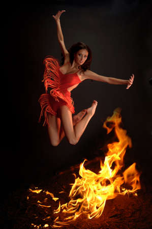 Hot woman dancer  photo