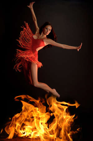 skin burns: Hot woman dancer