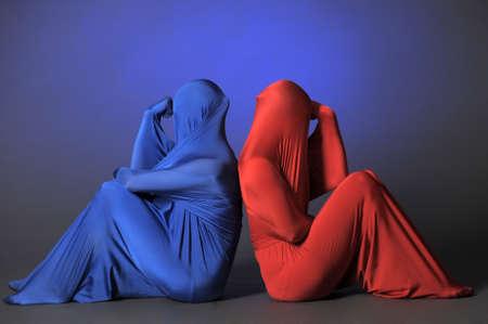 figuras abstractas: dos figuras abstractas