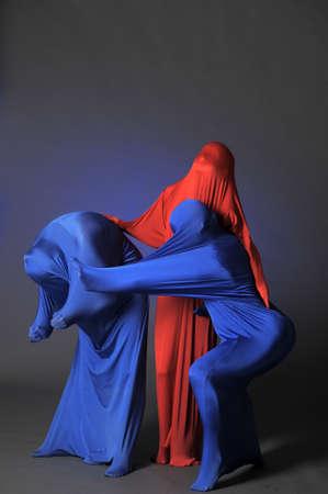 three abstract human figures Stock Photo - 13342829