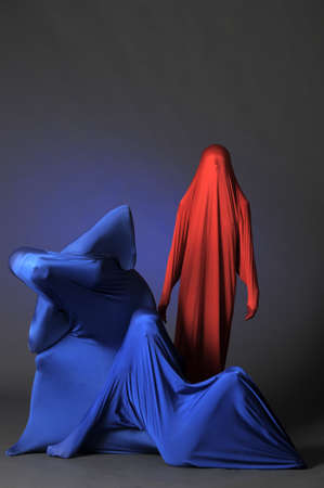 three abstract human figures photo