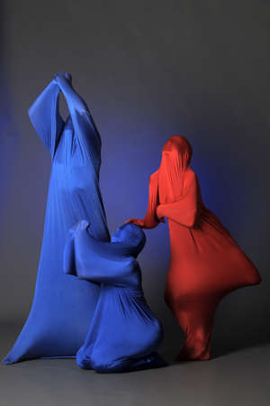 three abstract human figures Stock Photo - 13342831