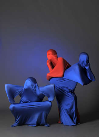 three abstract human figures Stock Photo - 13342813