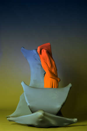 three abstract human figures photo