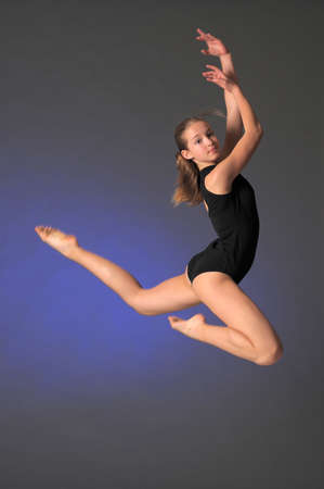 Jumping young dancer  photo