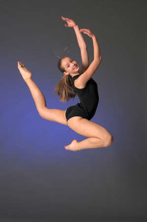 Jumping young dancer Stock Photo - 13754829