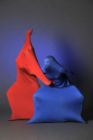 two abstract figures Stock Photo - 13252165