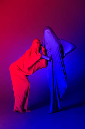 two abstract dancing figures Stock Photo - 12374850
