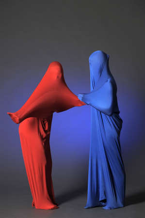 two abstract dancing figures photo