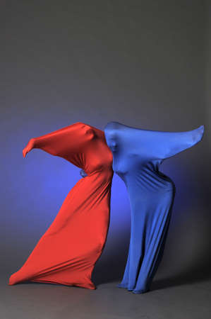choreographic: two abstract dancing figures