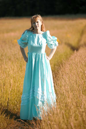 young woman in a Victorian era dress  Stock Photo - 12234559
