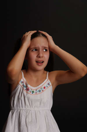 Female Teen crying  Stock Photo - 14395210