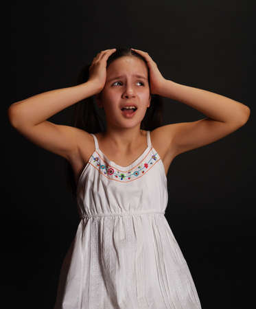 Female Teen crying  photo