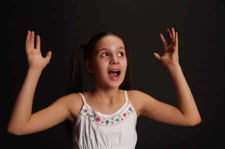 Expressive teen girl  photo