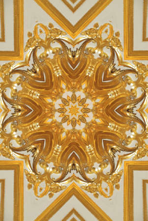 Gold mandala pattern photo