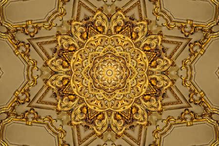 Gold mandala pattern photo