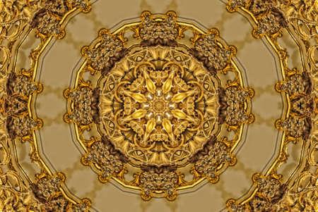 Gold mandala pattern Stock Photo - 12233549