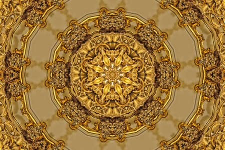 kaleidoscope: Gold mandala pattern