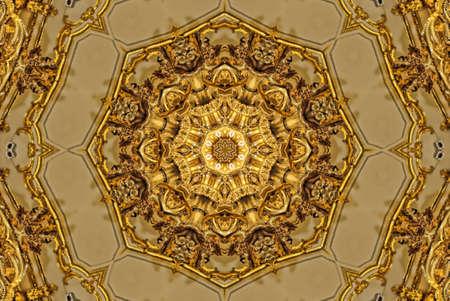kaleidoscope: Gold mandala pattern