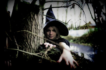 witch in the woods Stock Photo - 12375523