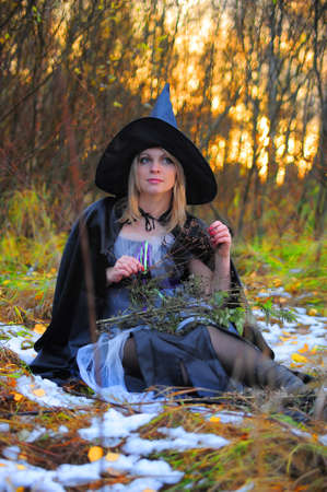 witch in the woods Stock Photo - 12375795
