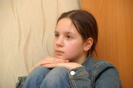 The girl the teenager in depression Stock Photo - 12443019