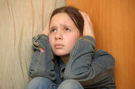 The girl the teenager in depression Stock Photo - 12443022