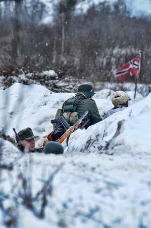 Reconstruction of a major military operation of the Leningrad Front - The January Thunder,  lifting of the blockade of Leningrad. Stock Photo - 12271649