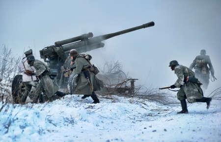 Reconstruction of a major military operation of the Leningrad Front - The January Thunder,  lifting of the blockade of Leningrad. Stock Photo - 12273029