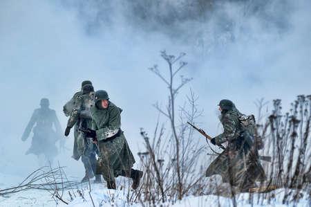 Reconstruction of a major military operation of the Leningrad Front - The January Thunder,  lifting of the blockade of Leningrad. Stock Photo - 12271651
