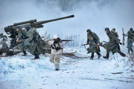 Reconstruction of a major military operation of the Leningrad Front - The January Thunder,  lifting of the blockade of Leningrad. Stock Photo - 12273074