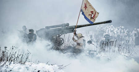 Reconstruction of a major military operation of the Leningrad Front - The January Thunder,  lifting of the blockade of Leningrad. Stock Photo - 12273023