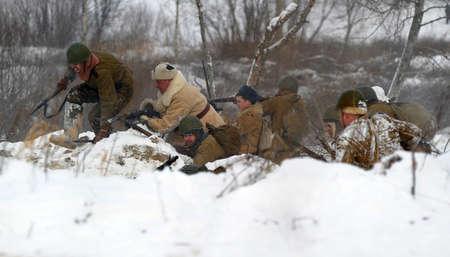 Reconstruction of a major military operation of the Leningrad Front - The January Thunder,  lifting of the blockade of Leningrad. Stock Photo - 12271647