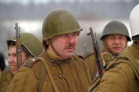 Reconstruction of a major military operation of the Leningrad Front - The January Thunder,  lifting of the blockade of Leningrad. Stock Photo - 12280024
