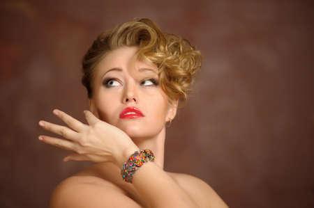 Retro jewelry woman  Stock Photo - 12674332