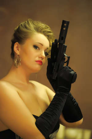 Gangster woman Stock Photo - 12665699