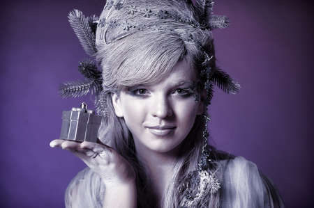 Beautiful snow queen photo