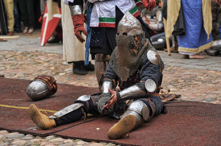 """in Vyborg Castle, the annual International Festival of Military History connoisseurs and lovers of the Middle Ages, """"Knight"""