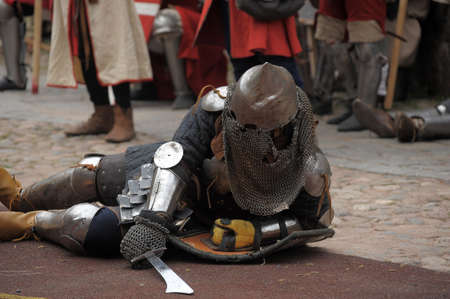 showmanship: in Vyborg Castle, the annual International Festival of Military History connoisseurs and lovers of the Middle Ages, Knight