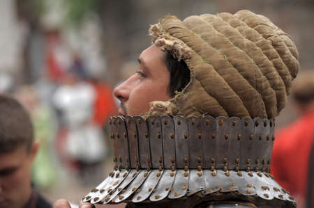 vyborg: in Vyborg Castle, the annual International Festival of Military History connoisseurs and lovers of the Middle Ages, Knight