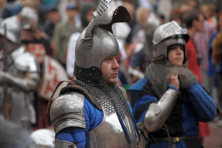 mediaeval: in Vyborg Castle, the annual International Festival of Military History connoisseurs and lovers of the Middle Ages, Knight