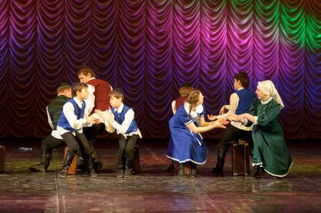 choregraphy: The Jewish dance. Festival of children