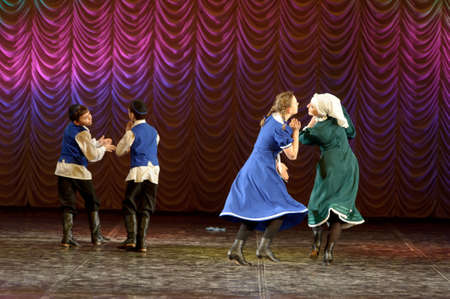 choregraphy: The Jewish dance. Festival of childrens dancing collectives, Russia, St.-Petersburg