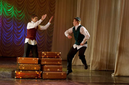 The Jewish dance. Festival of children's dancing collectives, Russia, St.-Petersburg